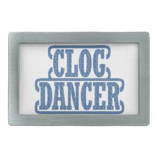 Klotz-Tänzer-verstopfenshow wirbelte Blau Rechteckige Gürtelschnalle