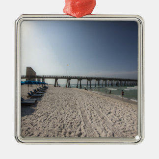 Klubsessel am Panama-Stadt Strand-Pier Silbernes Ornament
