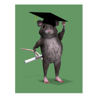 Kluge Abschluss-Ratte Postkarte