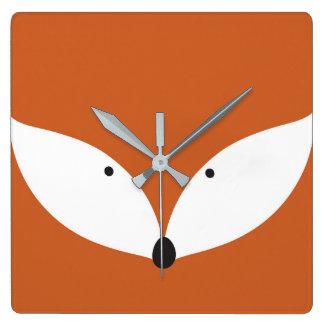 Kluge Fox-Wanduhr Quadratische Wanduhr