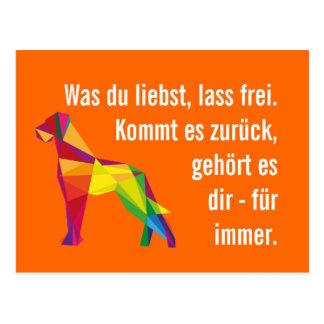 Kluge moderne Deutsche Dogge Postkarte