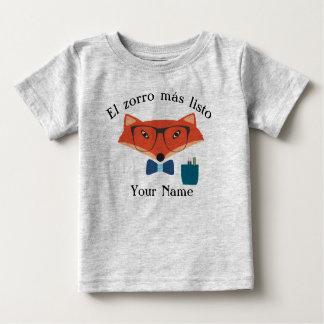 Kluger Baby-Jersey-T - Shirt Fox spanische Sprach