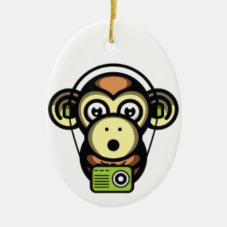 Klügere Affen Keramik Ornament