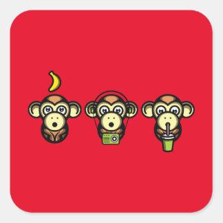 Klügere Affen Quadratischer Aufkleber