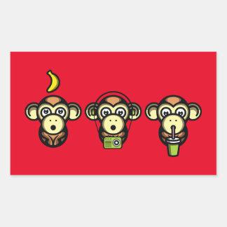 Klügere Affen Rechteckiger Aufkleber