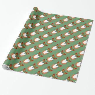 Kluges Eulen-WeihnachtsPackpapier Geschenkpapier