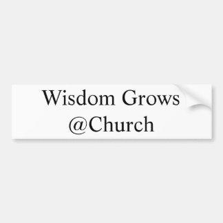 Klugheit wächst @Church Autoaufkleber