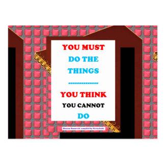 KLUGHEIT Wort-Text-Lebensstil-Entschlossenheit Postkarten