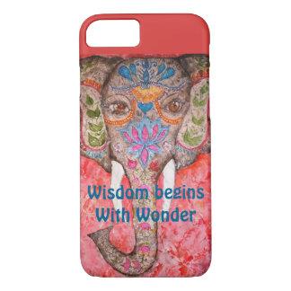 Klugheits-Elefantwatercolor-Kunst iPhone 7 Hüllen