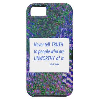 Klugheits-Wörter - sagen Sie Wahrheit iPhone 5 Case