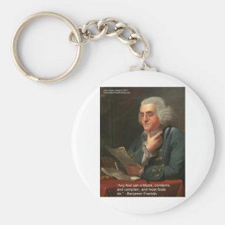 """Klugheits-Zitat Bens Frankling """"irgendein Schlüsselanhänger"""