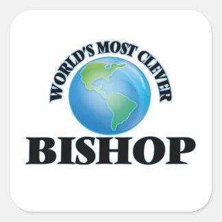 Klügste Bischof der Welt der Quadratischer Aufkleber