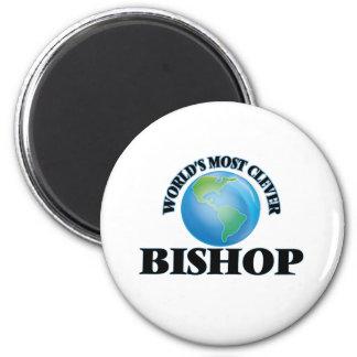 Klügste Bischof der Welt der Runder Magnet 5,1 Cm