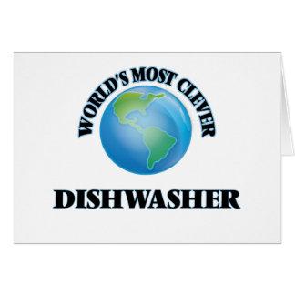 Klügste Spülmaschine der Welt die Grußkarte