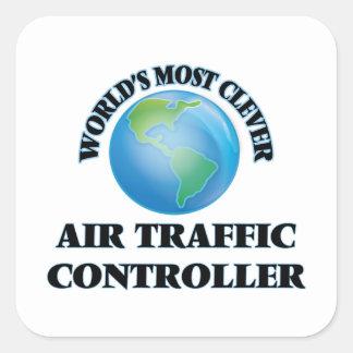 Klügster Fluglotse der Welt Quadratsticker