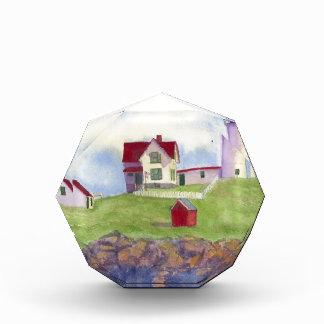 Klumpen-helles Haus York Maine Acryl Auszeichnung