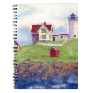 Klumpen-helles Haus York Maine Spiral Notizblock