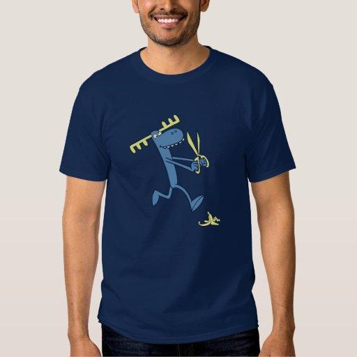 Klumpiger Betrieb mit Scheren Shirt