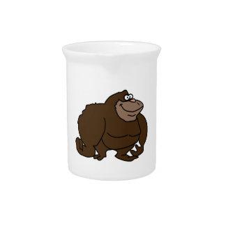 Klumpiger Brown-Affen-Gorilla Krug