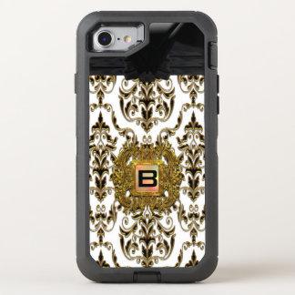 Klysworth Girly Damast-elegantes Monogramm OtterBox Defender iPhone 8/7 Hülle
