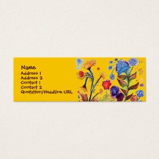 Knallende blaue Blumen-Visitenkarte Mini-Visitenkarten