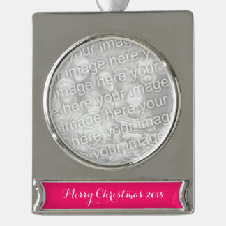 Knallrosa Normallack fertigen es besonders an Banner-Ornament Silber