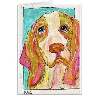 Knäuel der Jagdhund Grußkarte