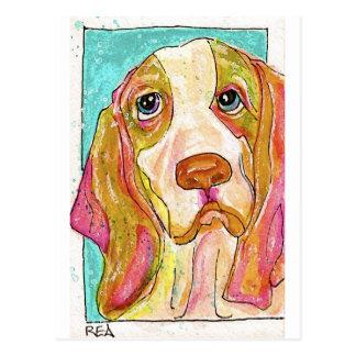Knäuel der Jagdhund Postkarte