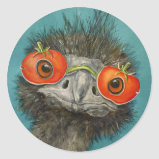 Knäuel die Emuaufkleber Runder Aufkleber