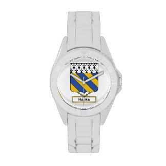 Knäuel-Familienwappen Armbanduhr