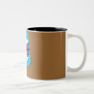 Knäuel II 2 Ton-Tasse! Zweifarbige Tasse