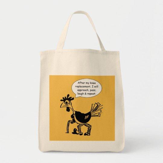 Knie-Ersatz-Operation - Spaß-Zitat Einkaufstasche