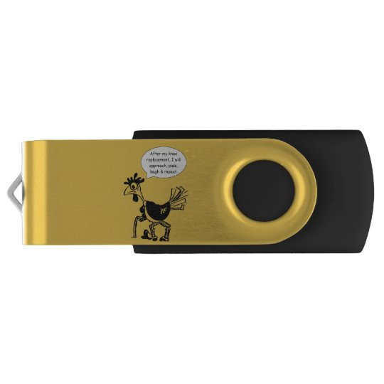 Knie-Ersatz-Operation - Spaß-Zitat USB Stick