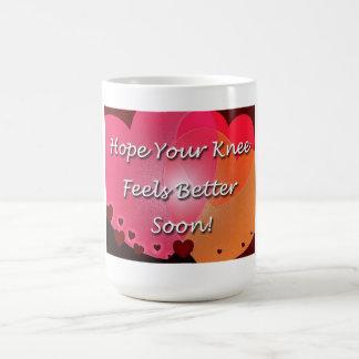 Knie-Operation erhalten wohle bald Herzen Kaffeetasse