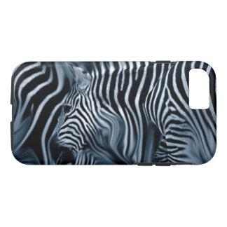 Knie tief blaue Zebras-im abstrakten iPhone 8/7 Hülle