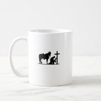 Kniender Cowboy Kaffeetasse
