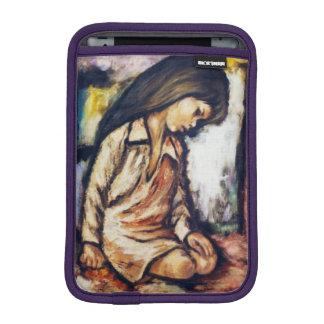Knienmädchen-Reflexions-Strand Ipad Minifall iPad Mini Sleeve