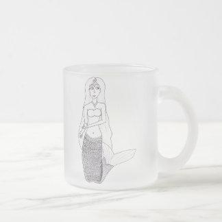 Knienmeerjungfrau Mattglastasse