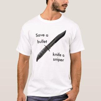 knife4, retten a, Kugel, Messer a, Scharfschütze T-Shirt