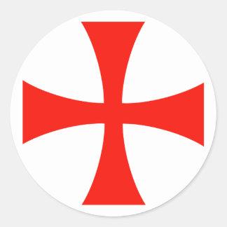 Knight's* Templar Queraufkleber Runder Aufkleber