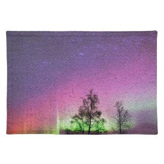 Knistern-Beschaffenheits-Kunst-Nordlicht-Himmel Tischset