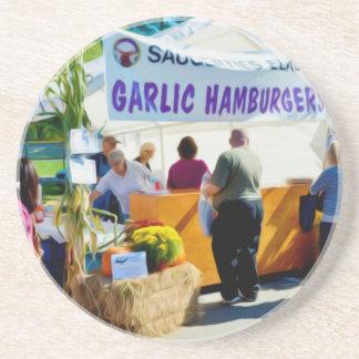 Knoblauch-Hamburger Untersetzer