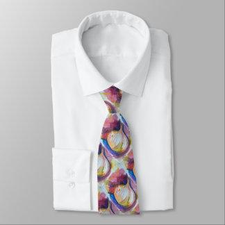 Knoblauch-Porträt-Collage malend künstlerisch Krawatte