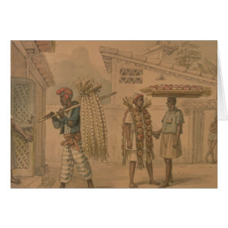 Knoblauch-und Zwiebel-Verkäufer, 1826 (w/c auf Karte
