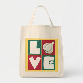 Knoblauchliebhaber Retro Einkaufstasche