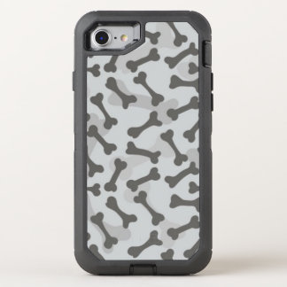 Knochen-Beschaffenheits-Muster Greyscale OtterBox Defender iPhone 8/7 Hülle
