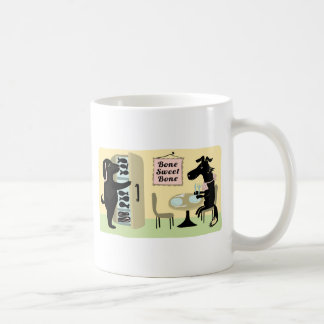 Knochen-Bonbon-Knochen Kaffeetasse
