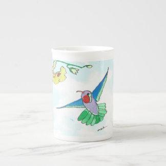 Knochen-China-Fliegen-Kolibri-Schale Porzellantasse