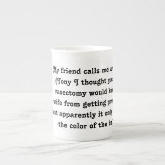 Knochen-China-Tassen-Kaffee Inspirational YACF Porzellantasse