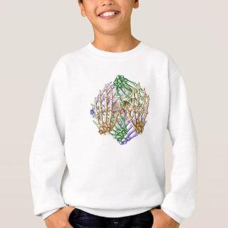 Knochen der menschlichen Hand Sweatshirt